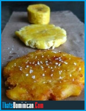 Tostones - (Flattened Fried Plantains) | ThatsDominican.com