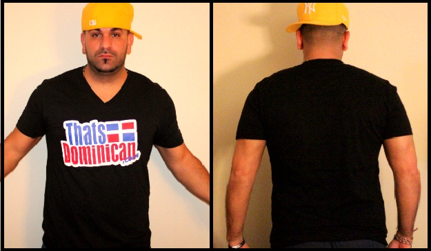 Thatsdominican Shirt Black V-Neck